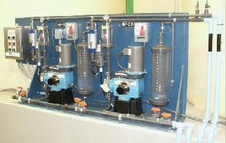 Salem, Oregon Encore<sup>®</sup> 700 metering pumps skid mounted.